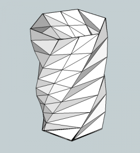 Vase hexagonal