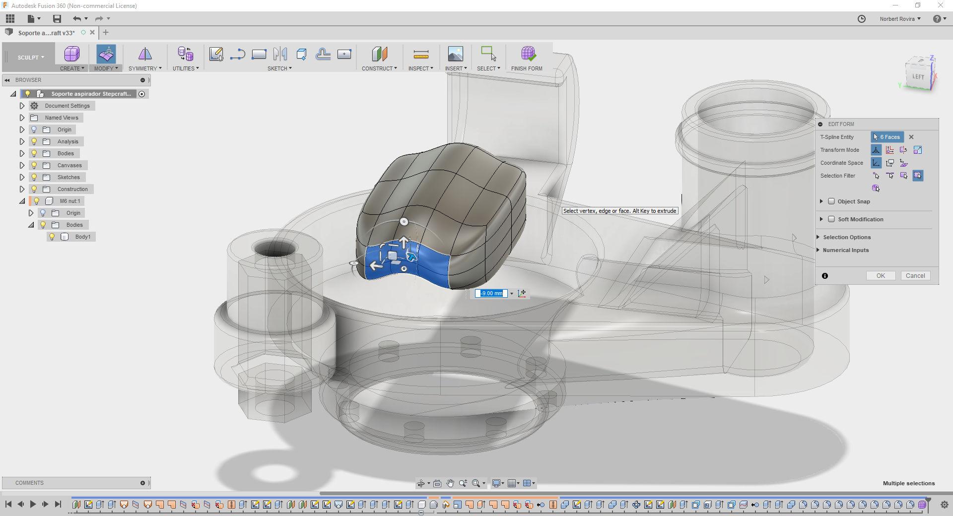 Preparing a Fusion 360 workshop at Punt Multimèdia - Norbert