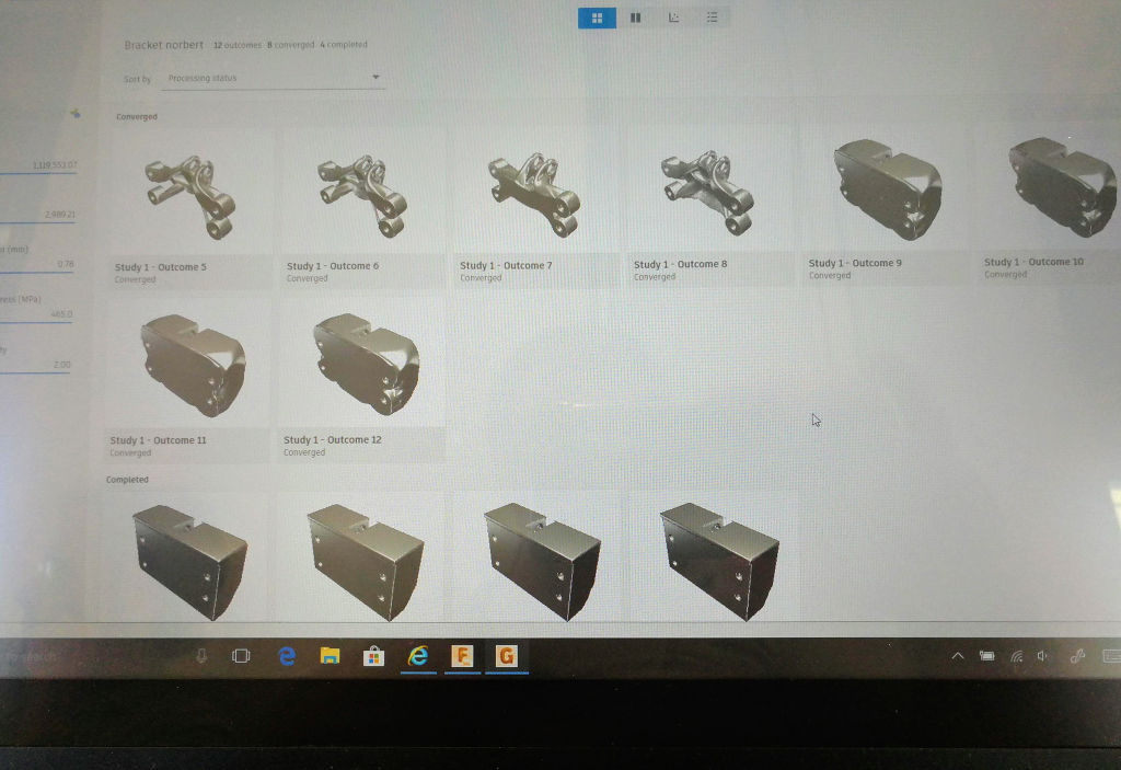 Fusion 360 Generative Design permutations
