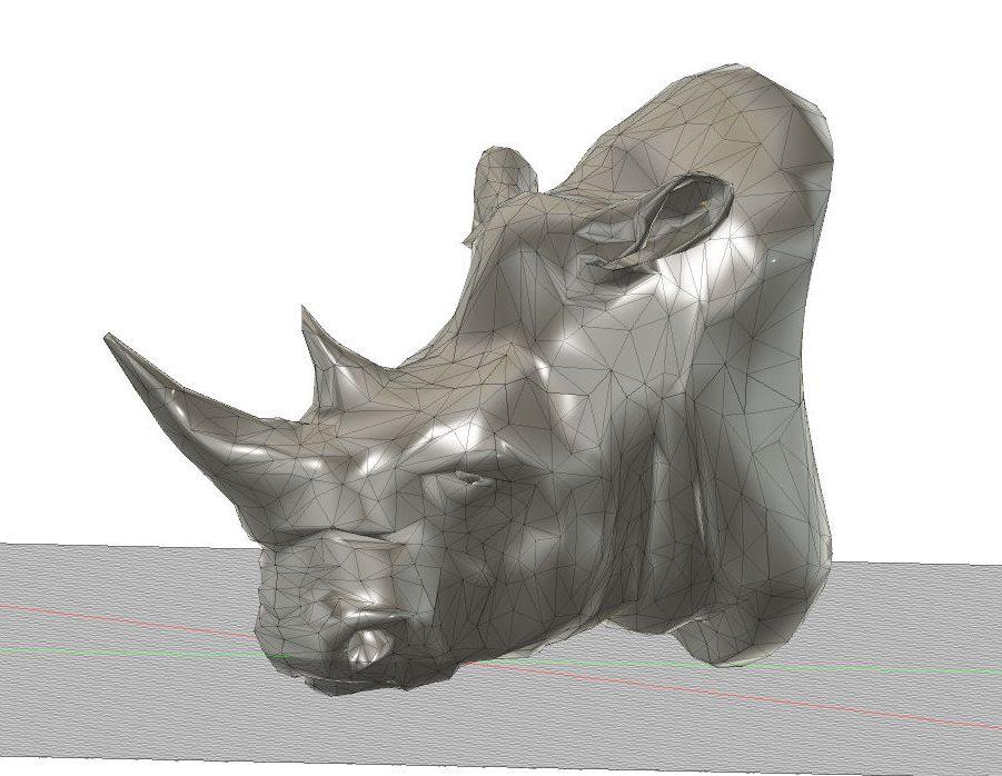 Paso 1 Modelo 3D Rhino mesh