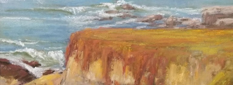 """""""Autumn Bluffs"""" pastel by Deborah Hill"""