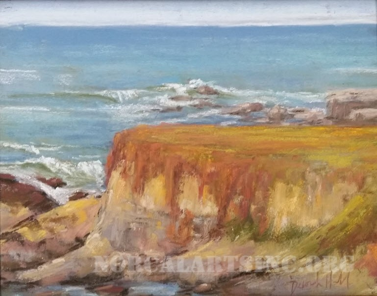 """Autumn Bluffs"" pastel by Deborah Hill"