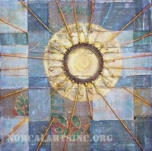 """Harness the Sun"" mixed media by Stephanie Lindsay"