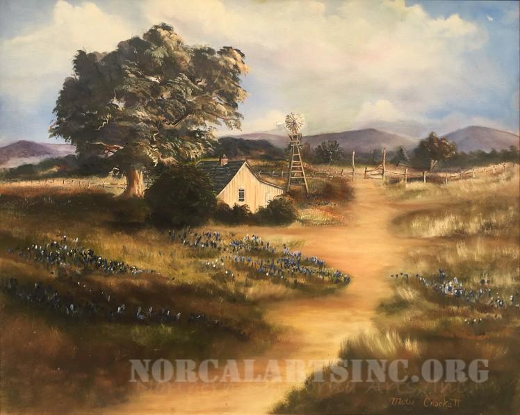 Oil landscape painting by Marie Crockett