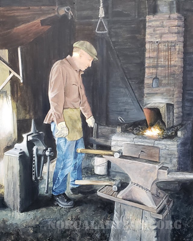 """""""Coloma Blacksmith"""" by Diana Licon, Acrylic"""