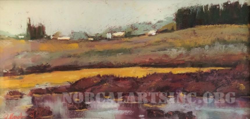 "Landscape pastel painting ""Elkhorn Slough North"""