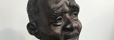 """Percy"" detail, portrait sculpture by JC Lee"