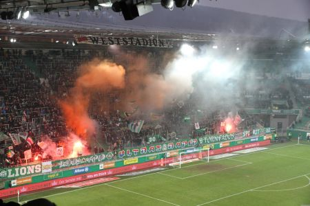 Choreo des Block West zur Rapid Viertelstunde