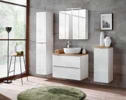 Badezimmerschrank Hochschrank hängender CAPRI WHITE 170 x ...