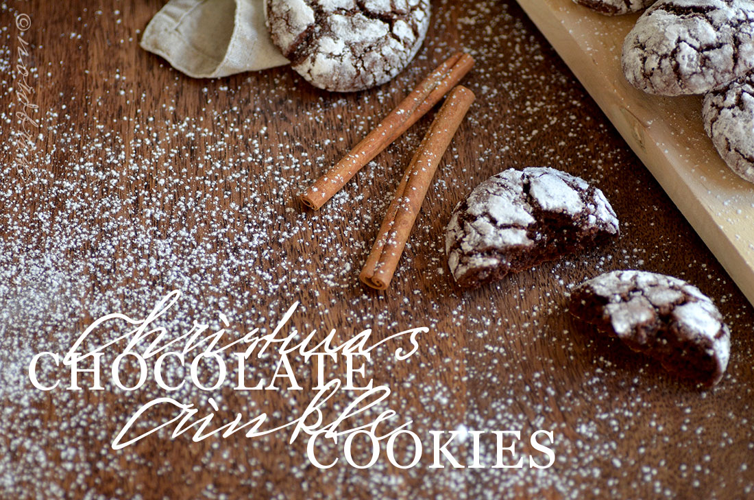 chocolate crinkle cookies recipe nordbrise cinnamon christmas