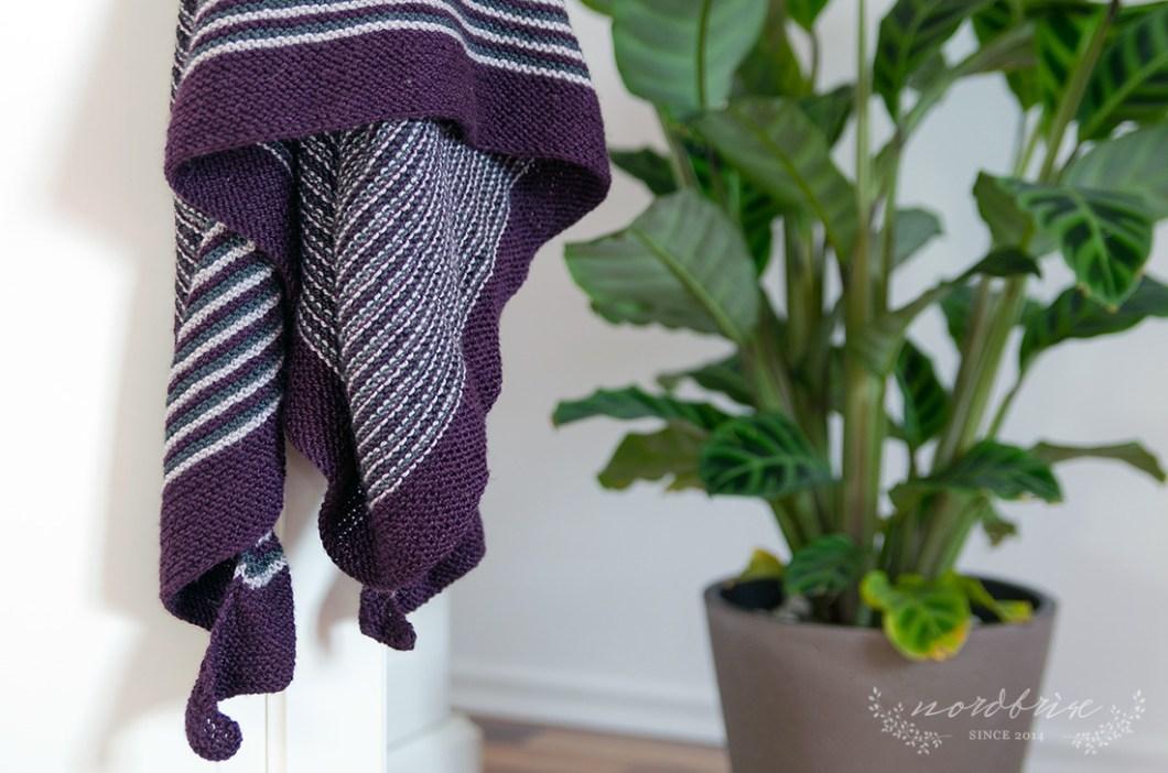 scarf shawl color affection schal streifen stripes pattern handmade diy nordbrise