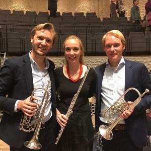 Peter Boekels, Fanny Quandt und Jan Kuhlen in der Elbphilharmonie (v.l.)