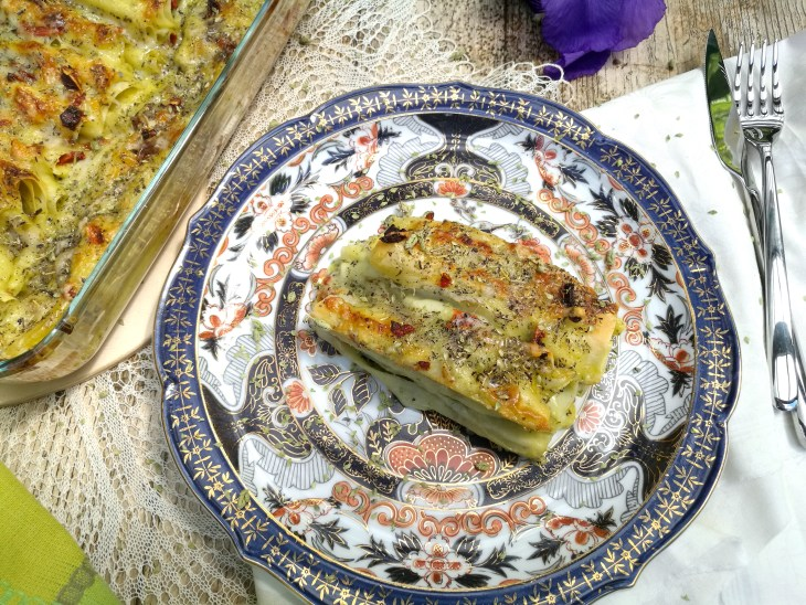 Recipe for fresh pesto cannelloni with dried tomatoes