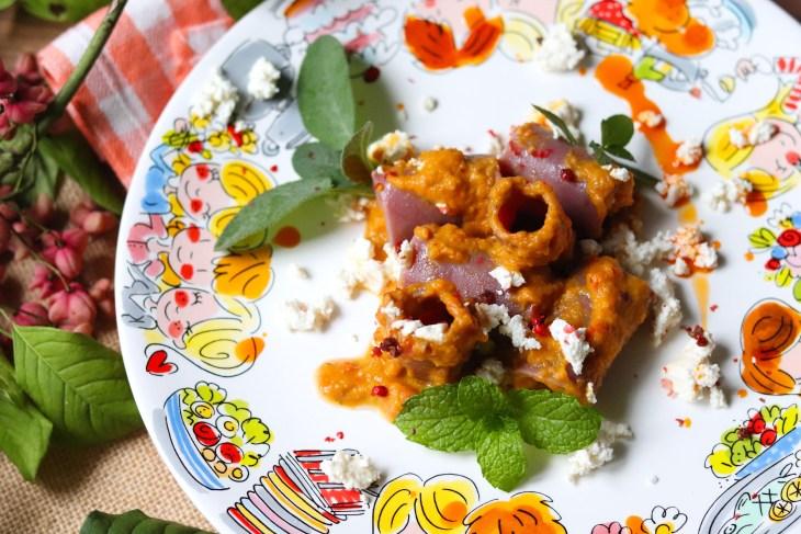 paccheri-al-melograno-con-zucca-e-ricotta-salata
