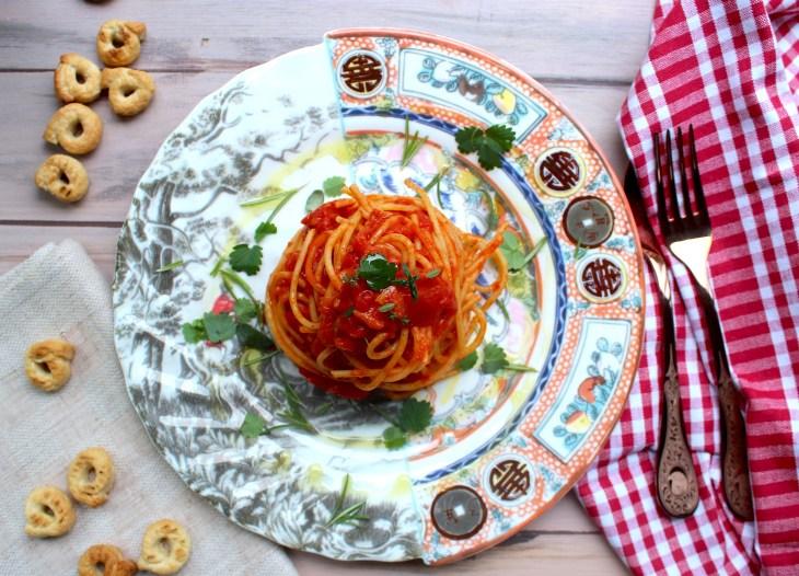 recette des spaghettini a la sauce tomate