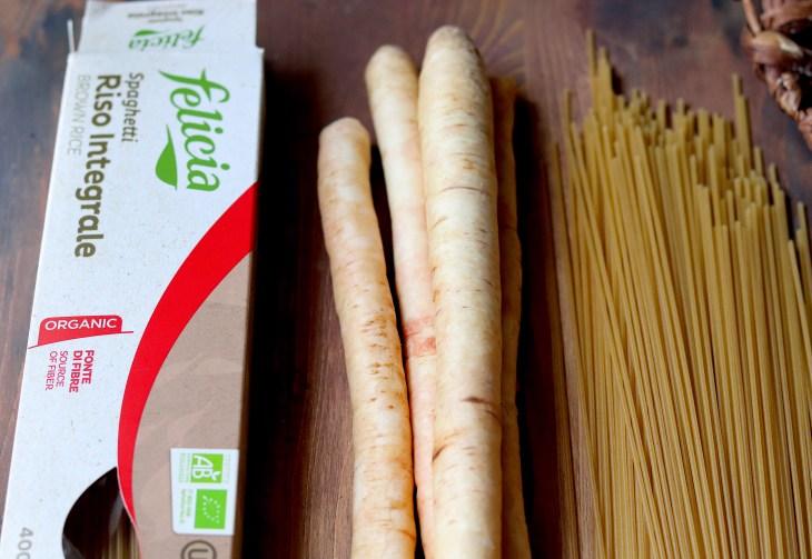 ricetta pasta di riso con radici e tartufo