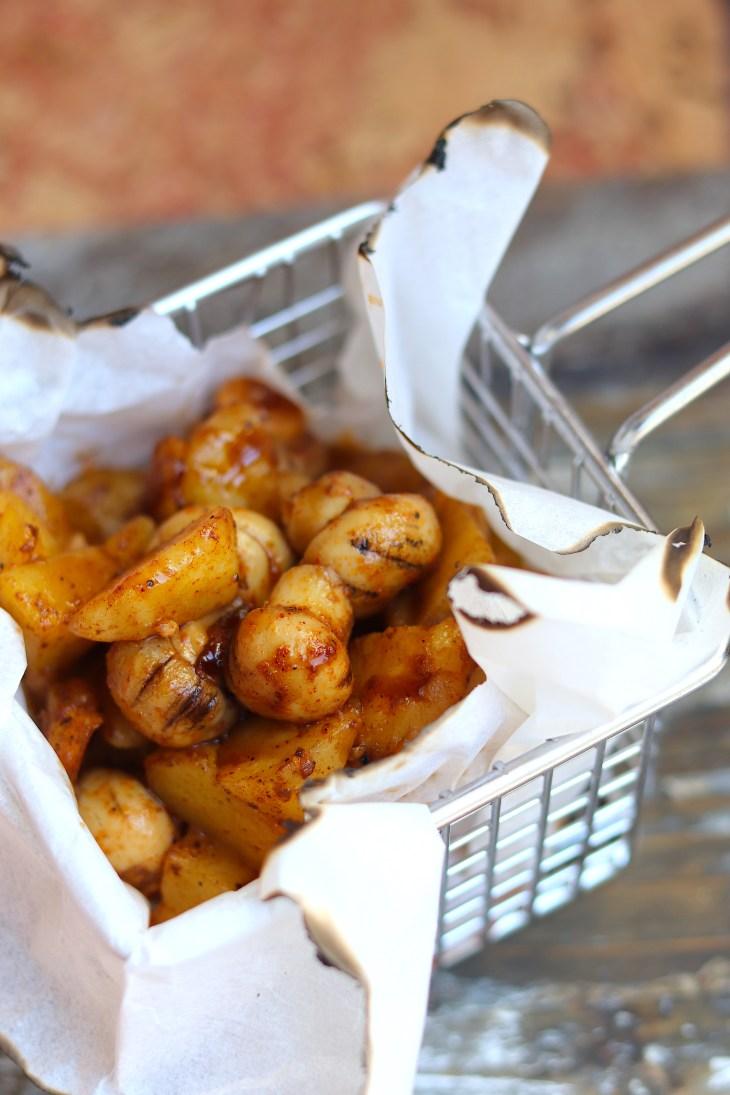 patate e funghi alla paprica