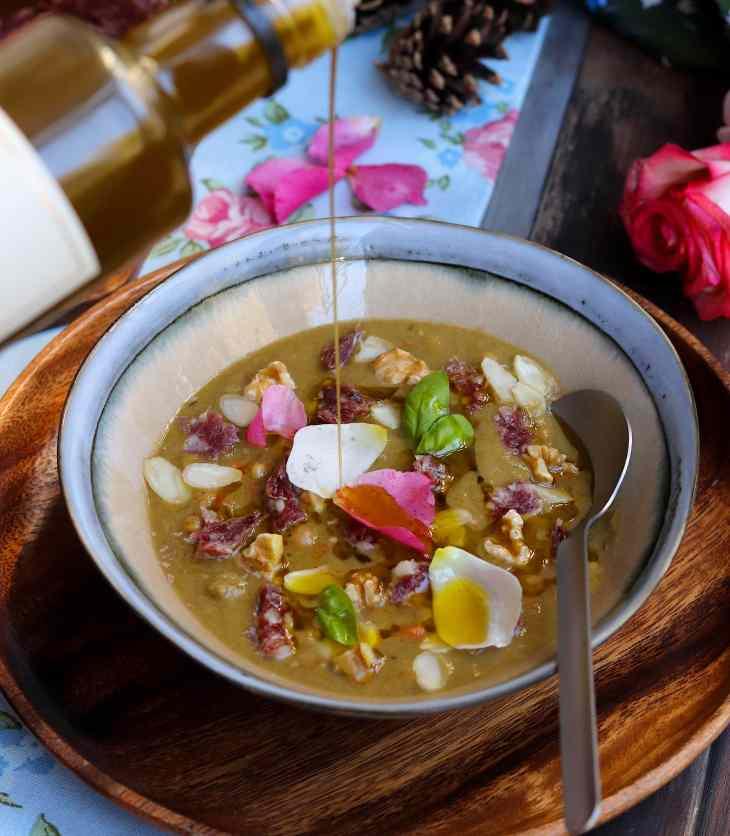 ricetta zuppa con salame