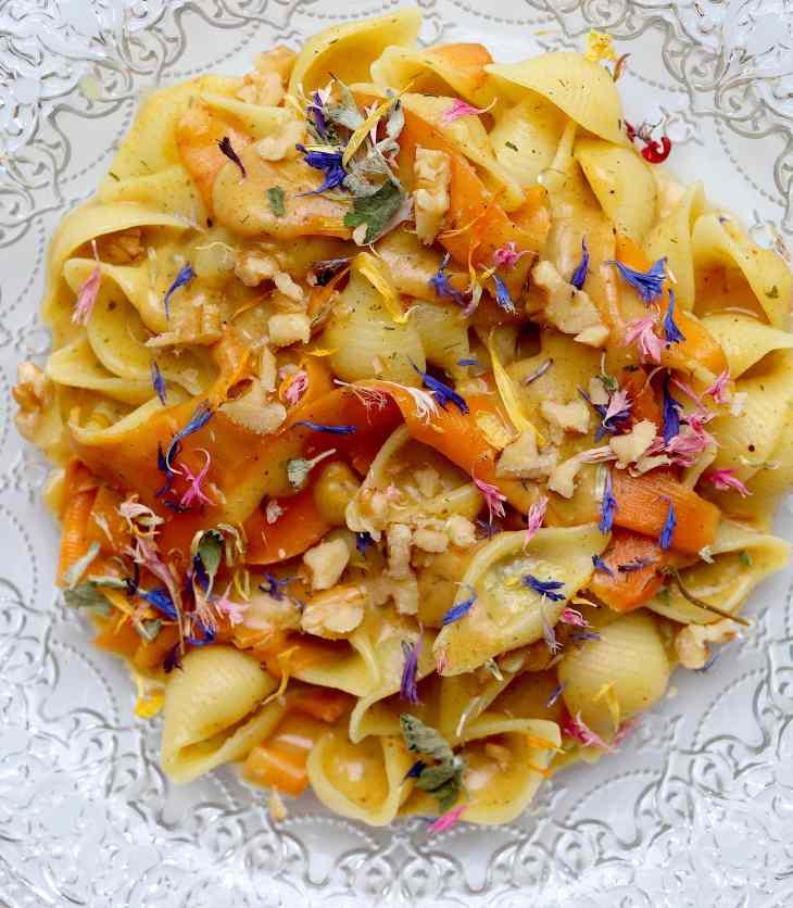 ricetta conchiglie carote e cannella