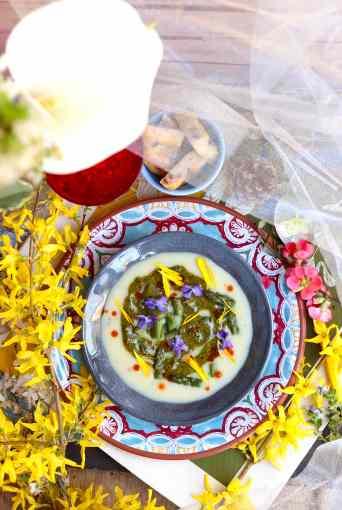 ricetta vellutata con pistacchi