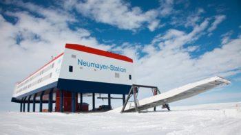 Die deutsche Forschungsstation Neumayer-Station III in der Antarktis. The german polar research centre Neumayer-Station III in the Antarctica