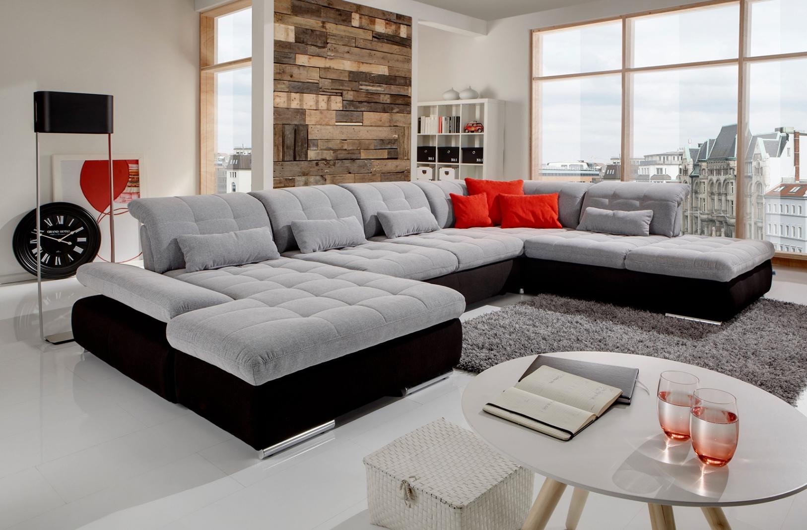 Alpine Sectional Sofa Sleeper With Storage