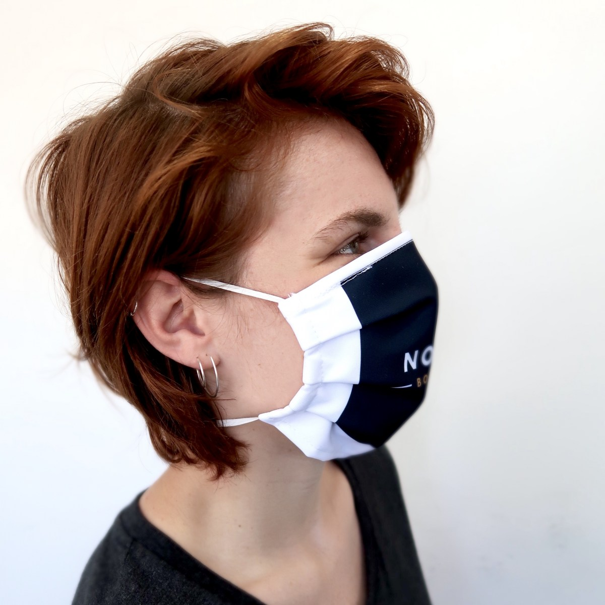 Washable Face Mask with Integrated Filter Pocket Side View