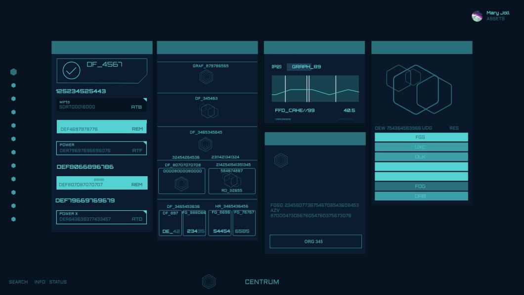 Free Adobe XD Resource: A Futuristic HUD style GUI kit