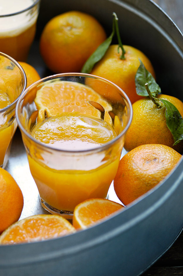 Clementine jelly with ginger