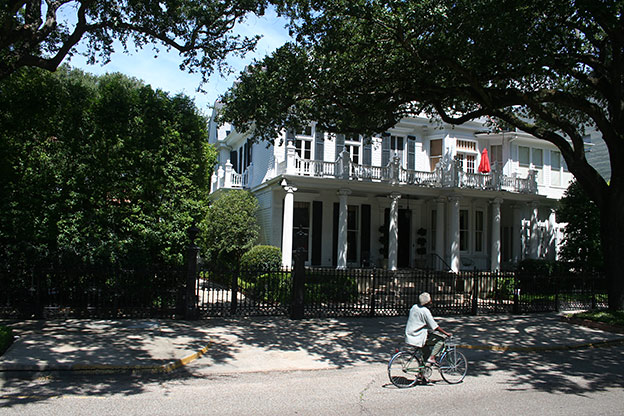 New Orleans has the largest collection of antebellum archicture in the USA, ie. houses dating to the period before the Civil War