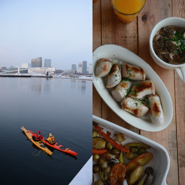 Kayaking the Oslo Fjord and Christmas dinner.