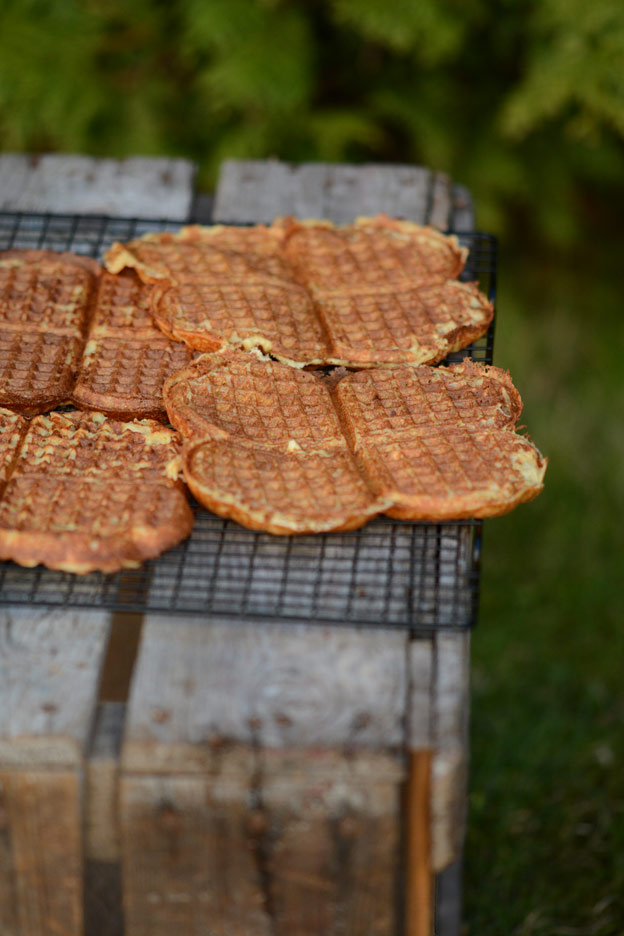 Scandinavian waffles are the smell of hospitality.