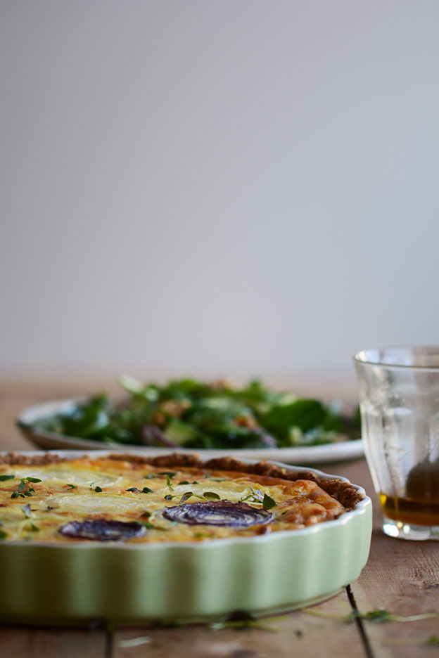French onion pie with thyme