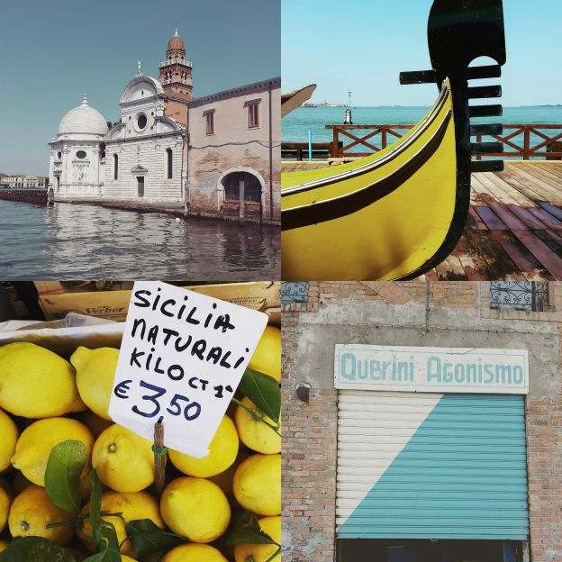 Venice in blue and yellow