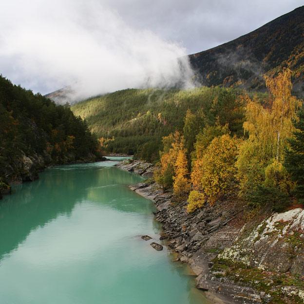 Otta river of Gudbrandsdalen
