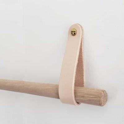 Nordic Function HangON natur læderstropper til ophængning rundstok leather strap round stick