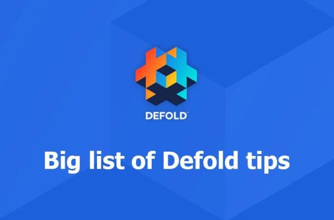 Defold tips