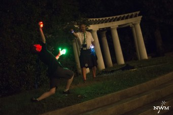 Negotiated magical spells in NWM3. Photo by Learn Larp LLC.