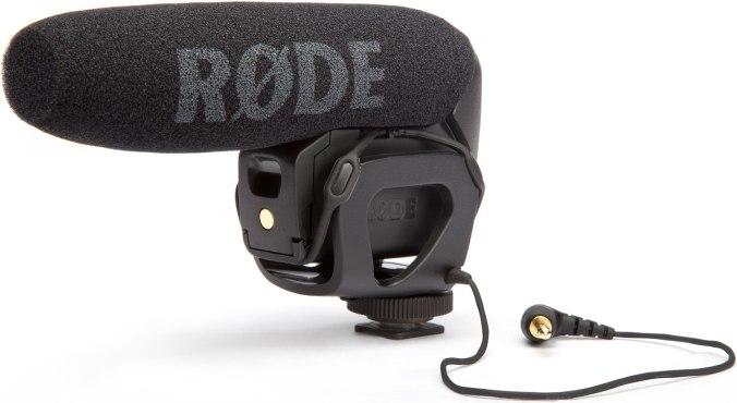 Røde Videomic Pro boom microphone.