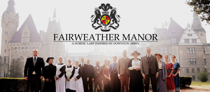 Photo of upstairs and downstairs characters in Fairweather Manor