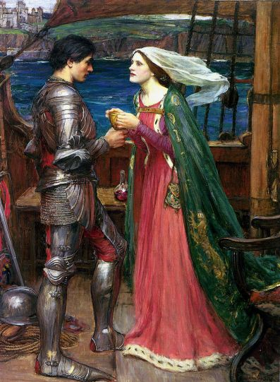 A knight in armor and a lady in a veil