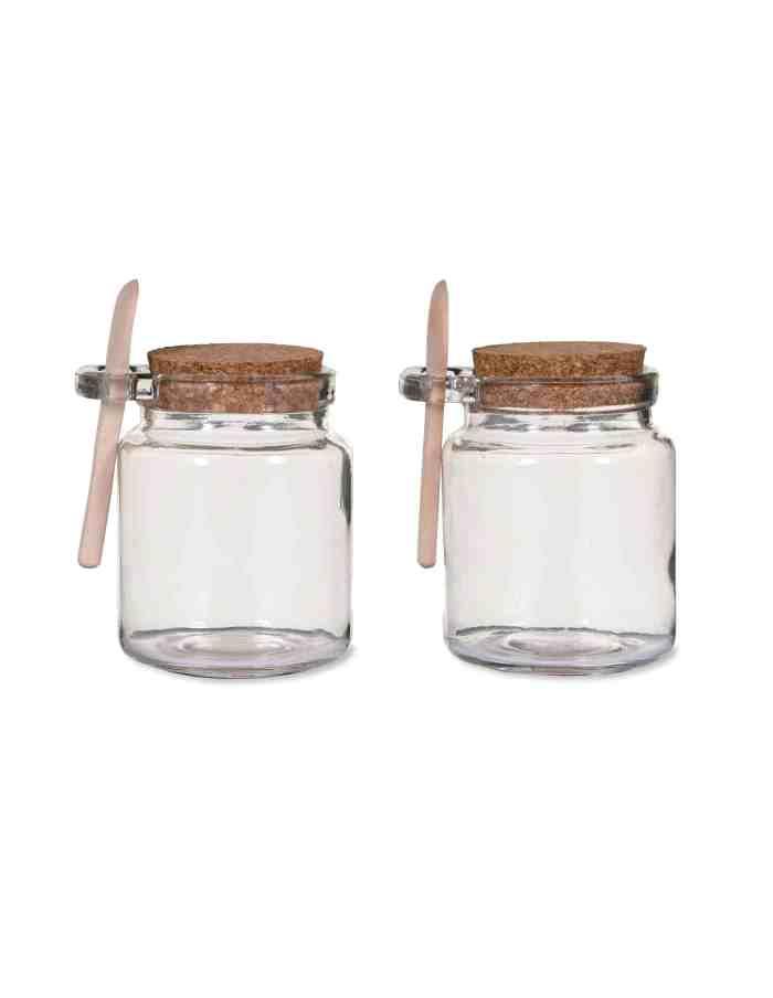 Glass Storage Jars, Set of Two