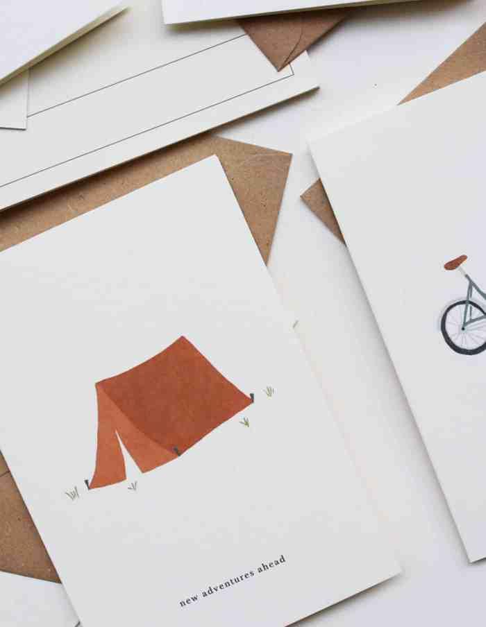Kartotek 'new adventures ahead' Greeting Card