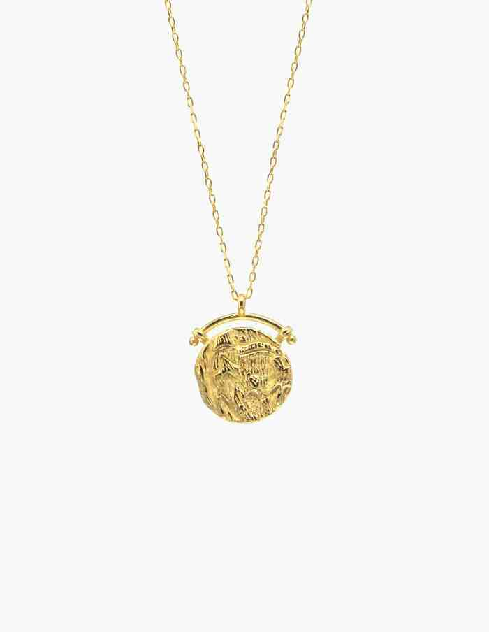 Gold Vermeil Coin Necklace