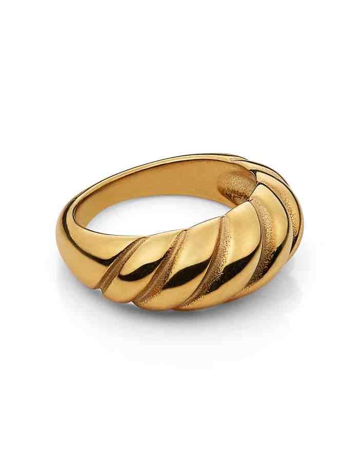 Gold Croissant Ring, Forever Lasting