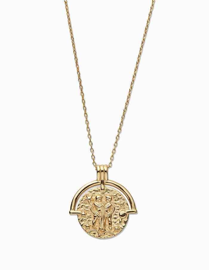 Gold Gemini Zodiac Necklace