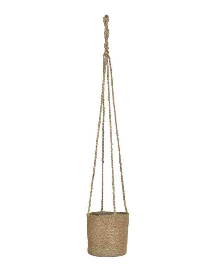 Tall Hanging Plant Pot, Jute