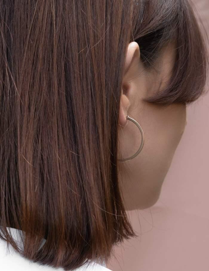 Rose Gold Hoop Earrings, Forever Lasting