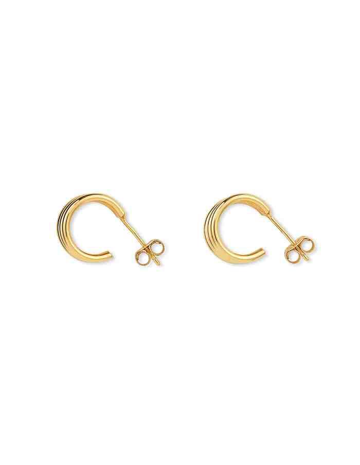 Gold Triple Huggie Earrings