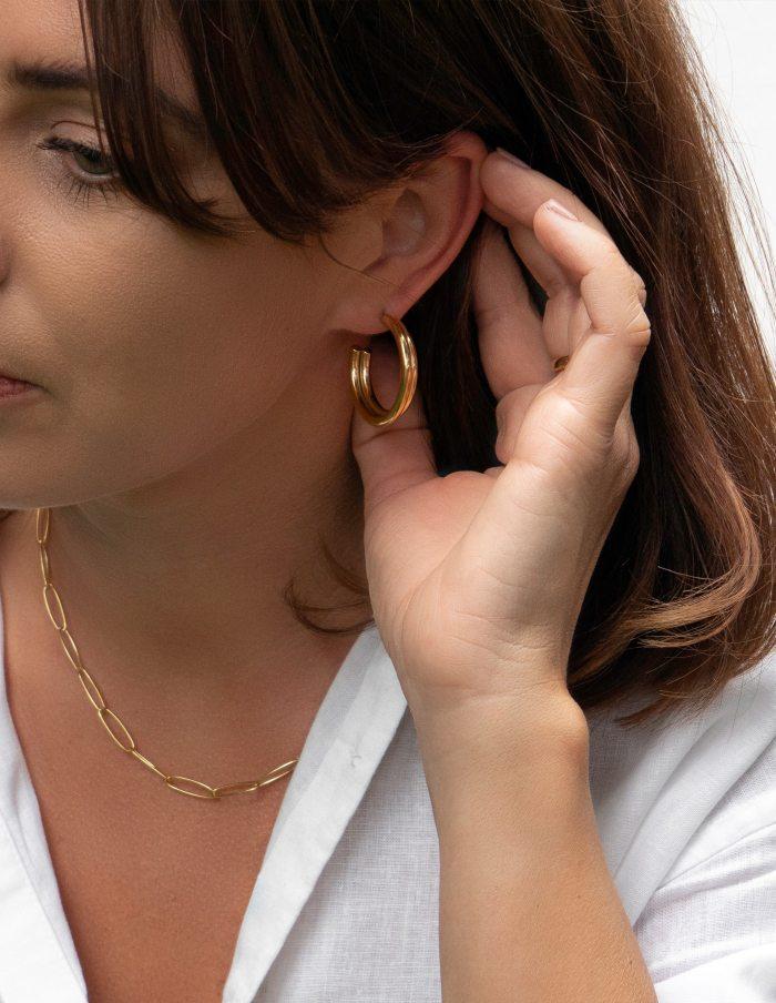 Layered Gold Hoop Earrings, Forever Lasting